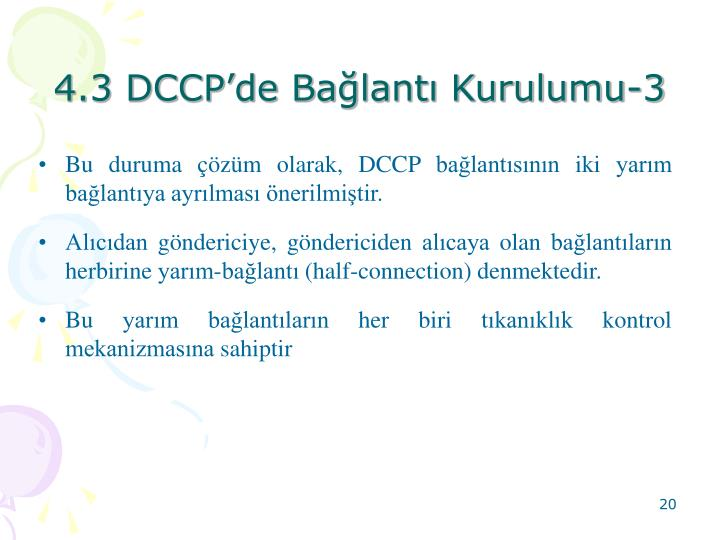 4.3 DCCPde Balant Kurulumu-3
