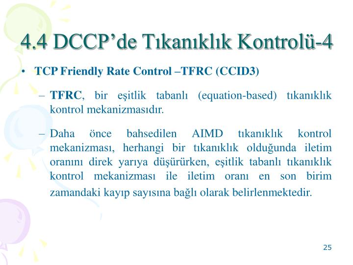 4.4 DCCP'de Tıkanıklık Kontrolü-4