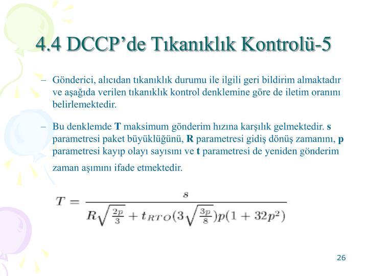 4.4 DCCPde Tkanklk Kontrol-5