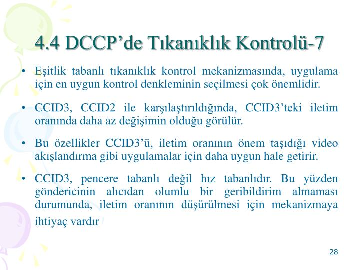 4.4 DCCP'de Tıkanıklık Kontrolü-7