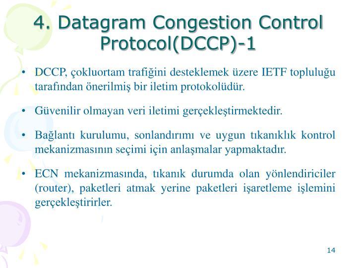 4. Datagram Congestion Control Protocol(DCCP)-1