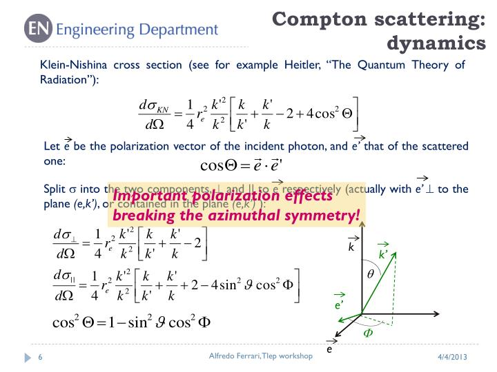Compton scattering: dynamics