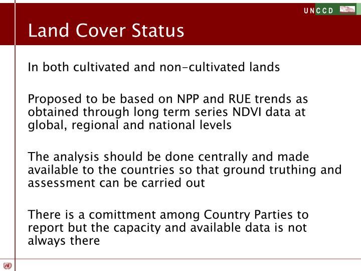 Land Cover Status