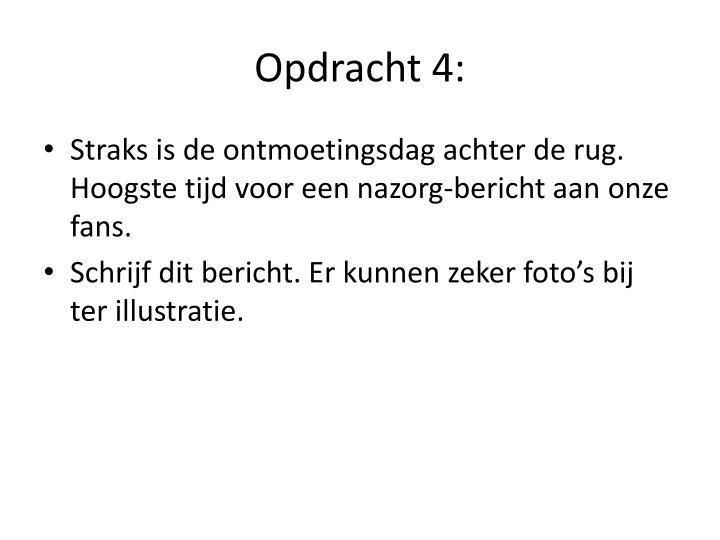 Opdracht 4: