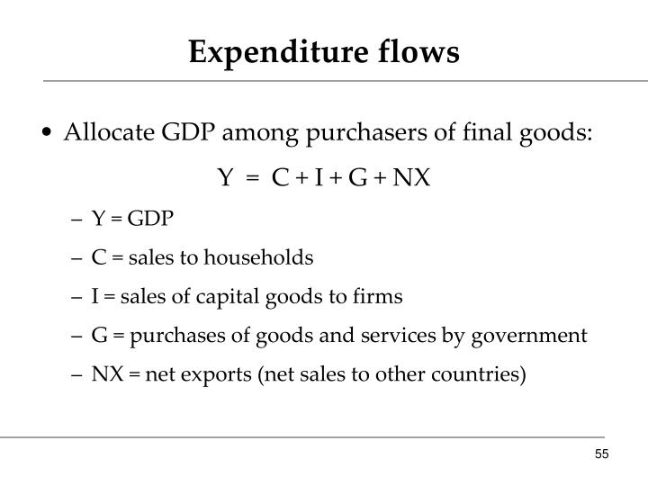 Expenditure flows