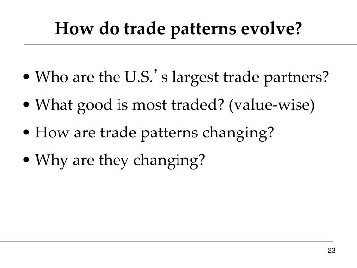 How do trade patterns evolve?
