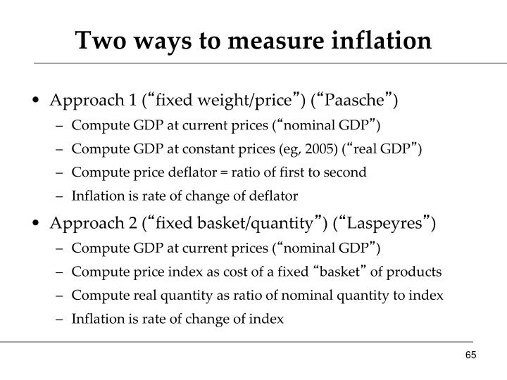 Two ways to measure inflation