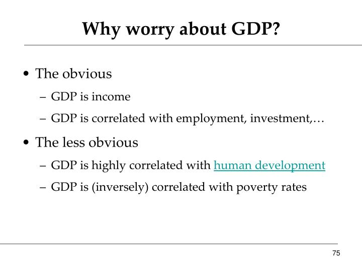 Why worry about GDP?