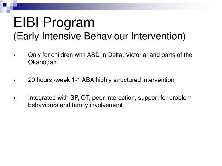 EIBI Program