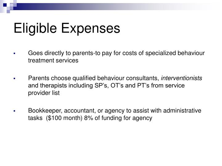 Eligible Expenses
