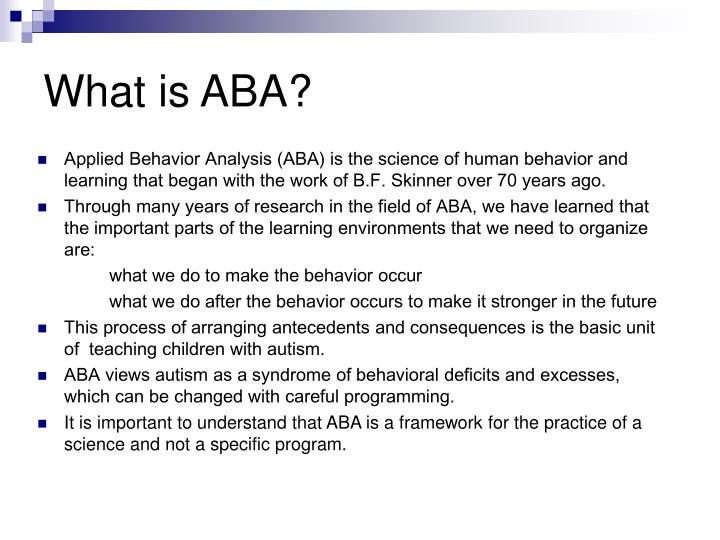 What is ABA?