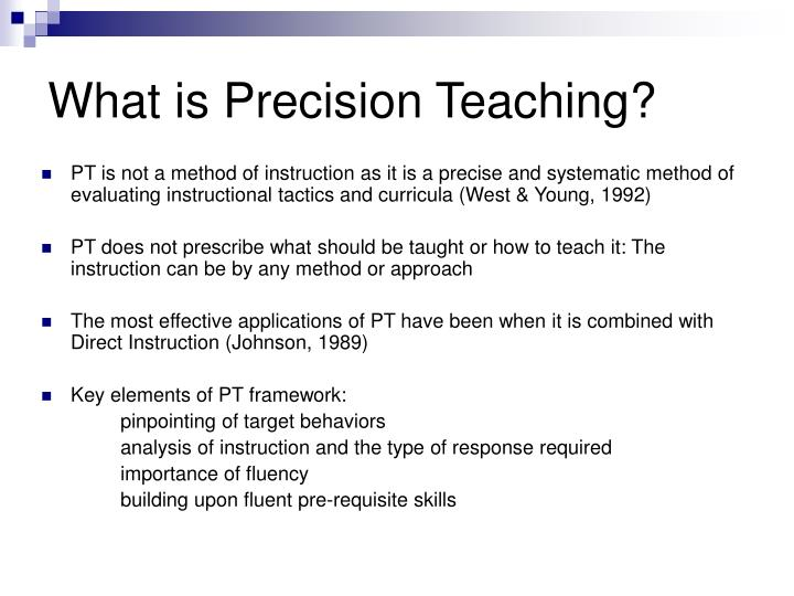 What is Precision Teaching?