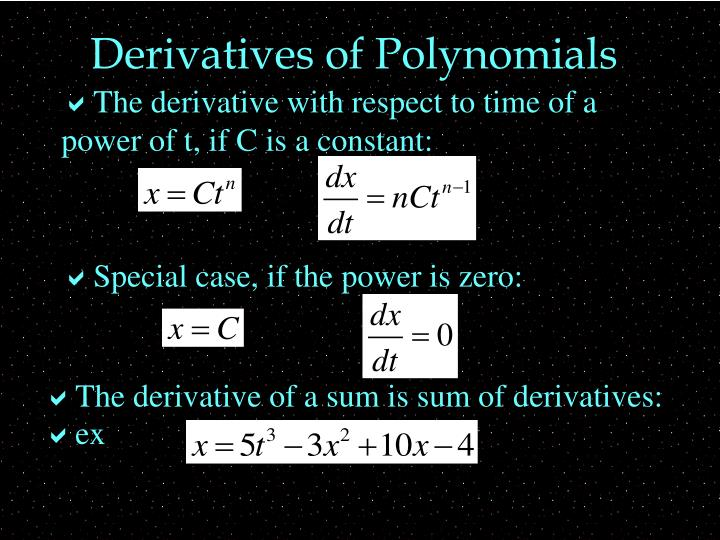 Derivatives of Polynomials
