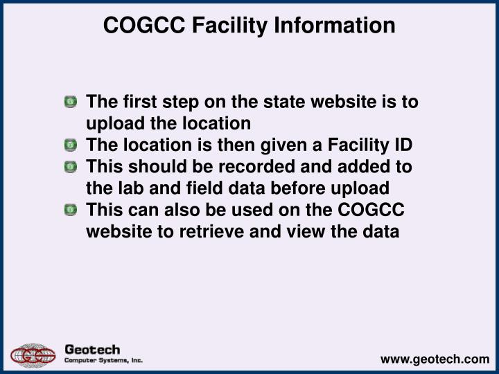 COGCC Facility Information