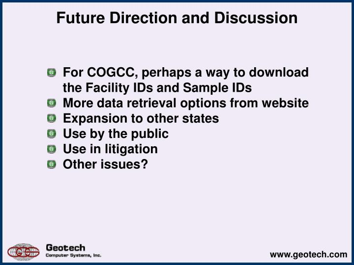 Future Direction and Discussion