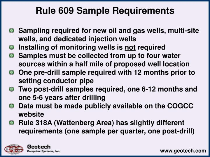 Rule 609 Sample Requirements