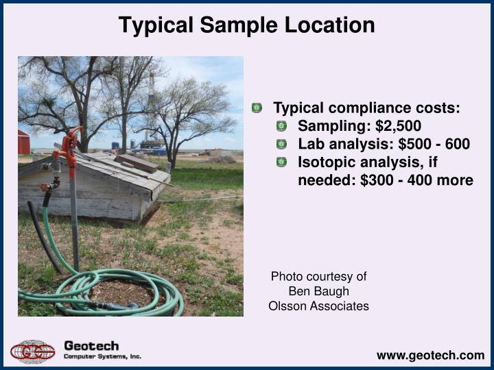 Typical Sample Location