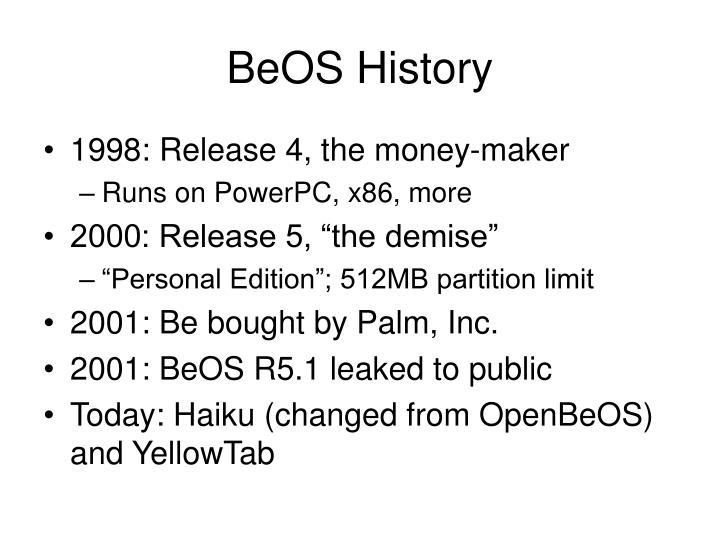 BeOS History