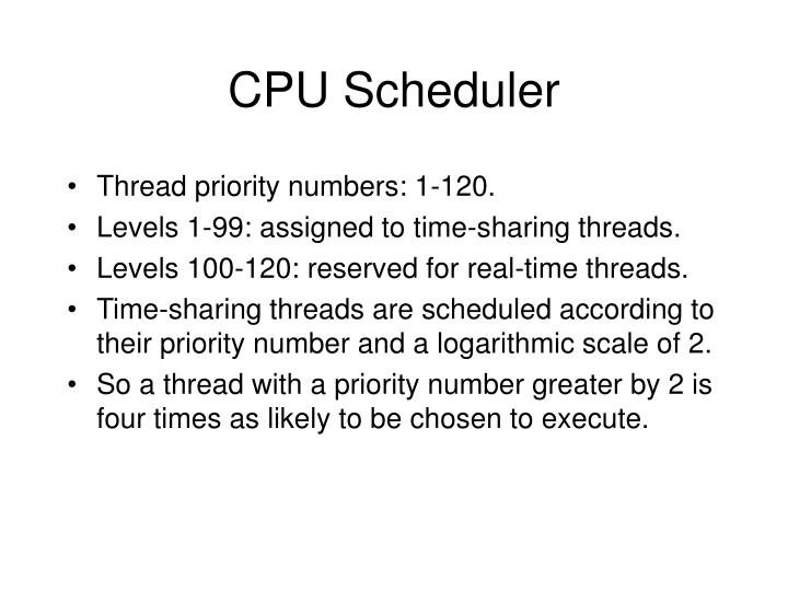 CPU Scheduler