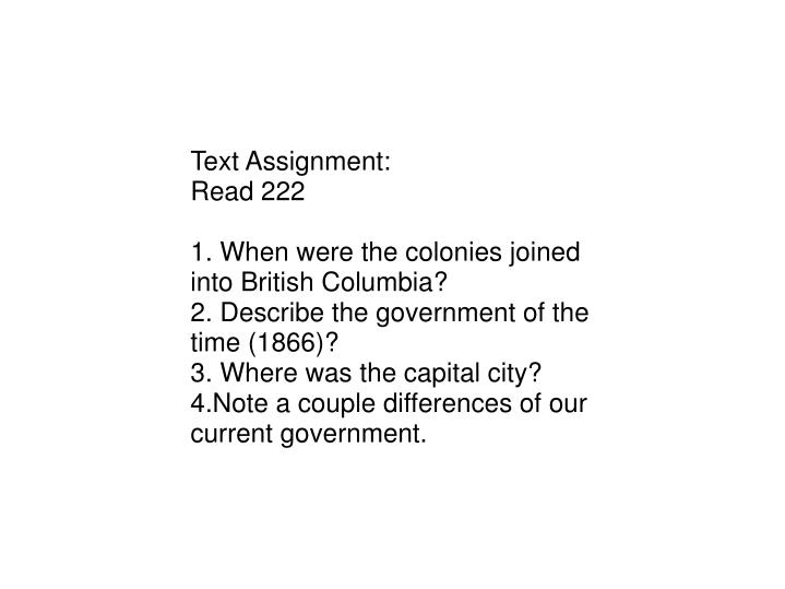 Text Assignment: