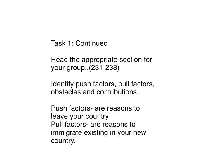 Task 1: Continued