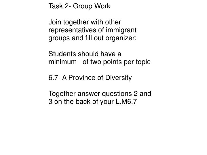Task 2- Group Work