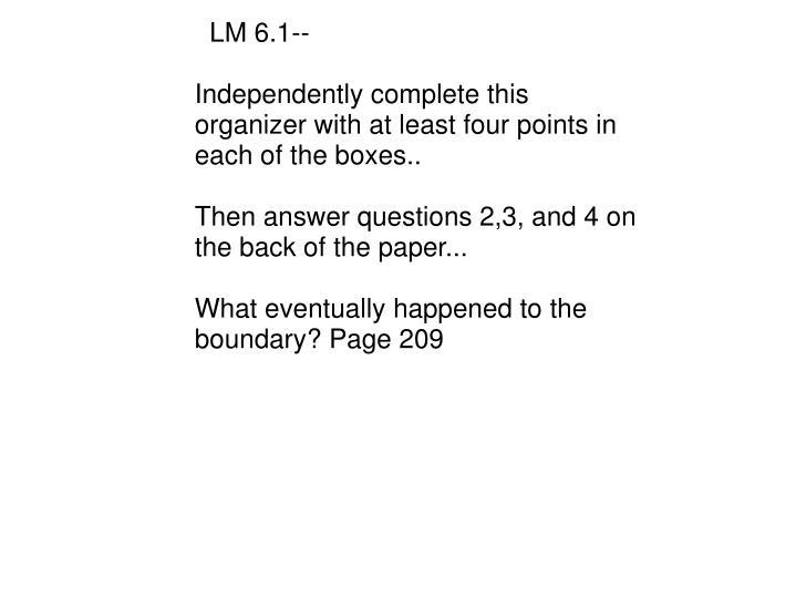 LM 6.1--