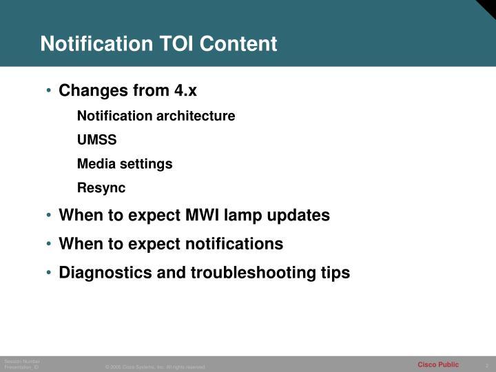 Notification TOI Content