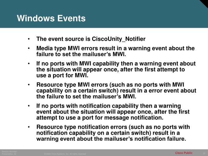 Windows Events