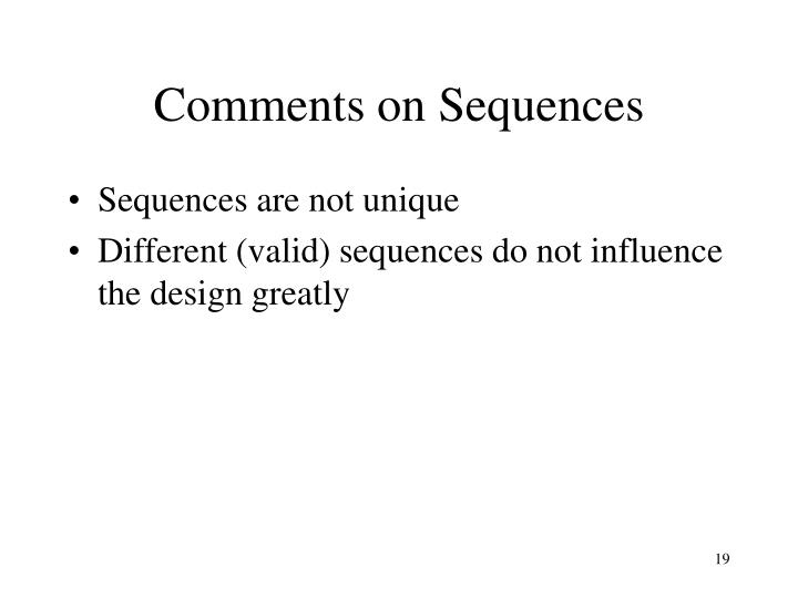Comments on Sequences