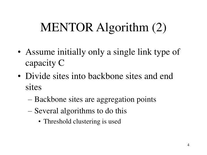 MENTOR Algorithm (2)