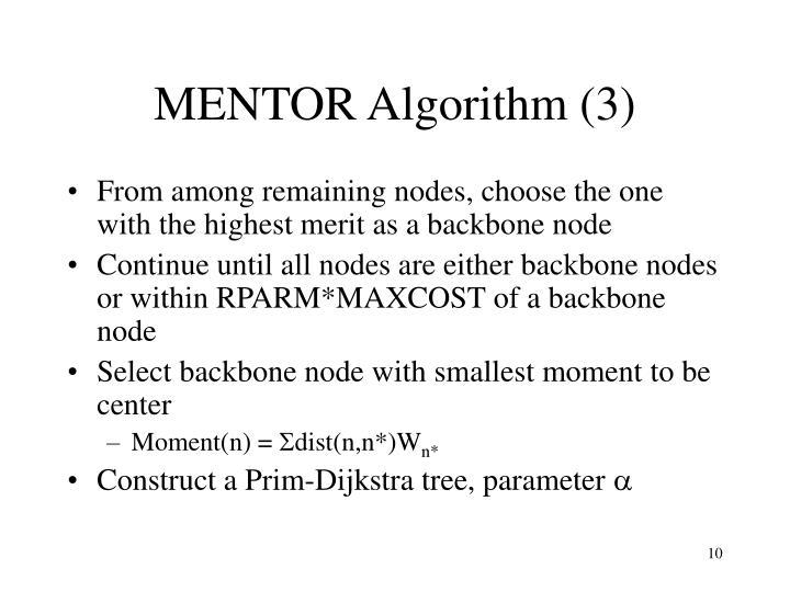 MENTOR Algorithm (3)