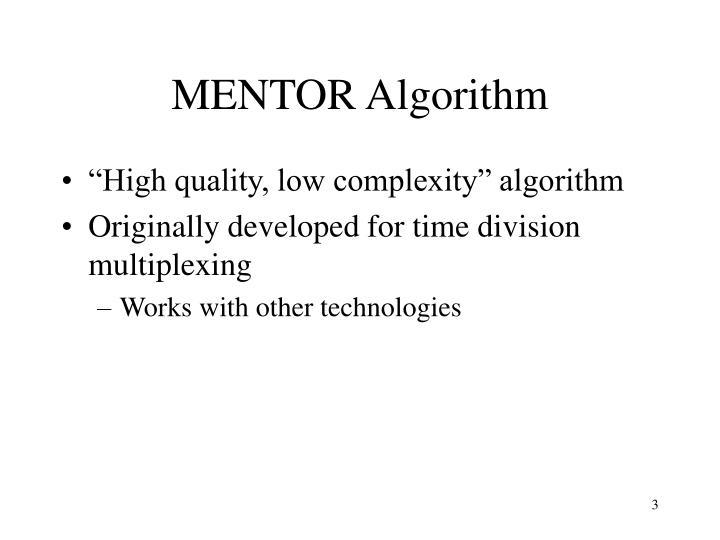 MENTOR Algorithm