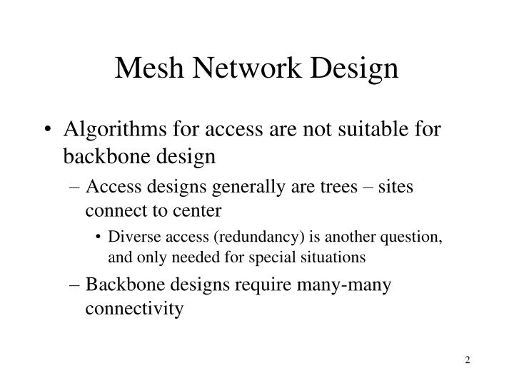 Mesh Network Design