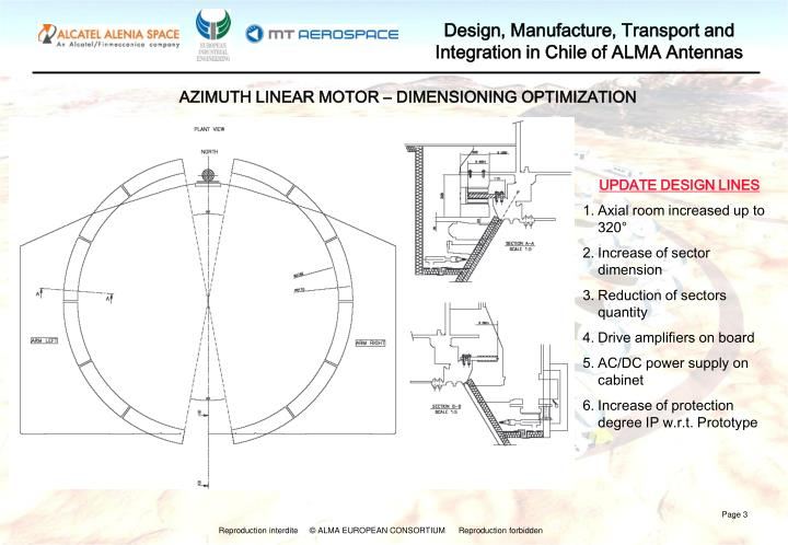 AZIMUTH LINEAR MOTOR – DIMENSIONING OPTIMIZATION