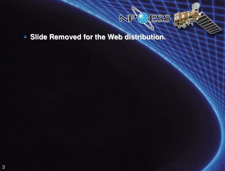 Slide Removed for the Web distribution.