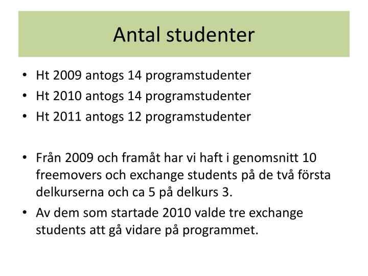 Antal studenter