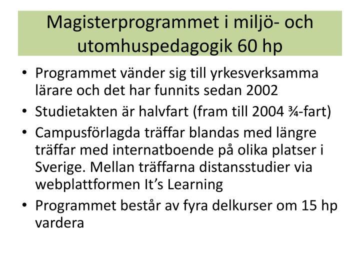 Magisterprogrammet