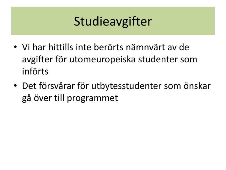 Studieavgifter