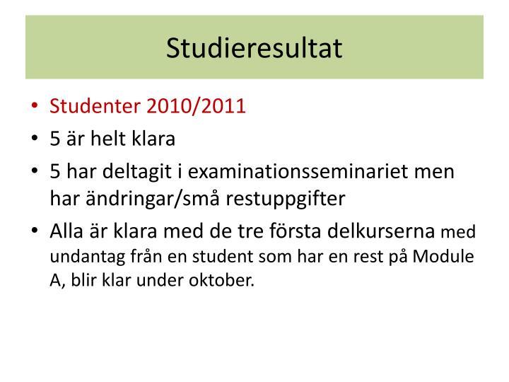 Studieresultat