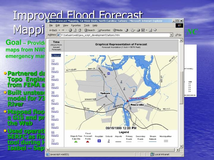 Improved Flood Forecast Mapping