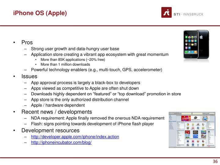 iPhone OS (Apple)