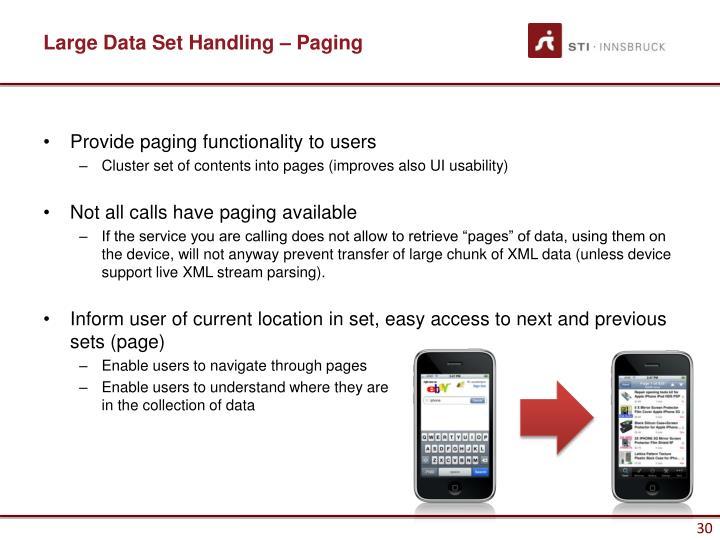 Large Data Set Handling – Paging