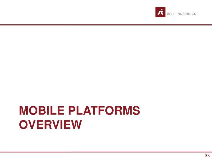 Mobile Platforms Overview