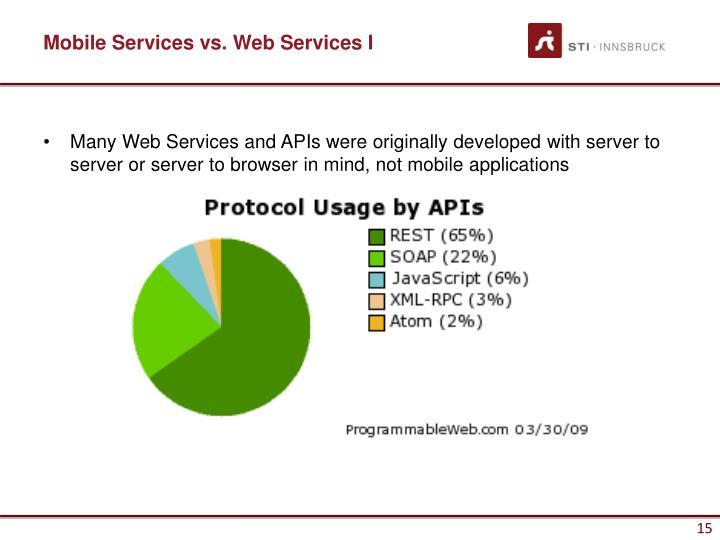 Mobile Services vs. Web Services I