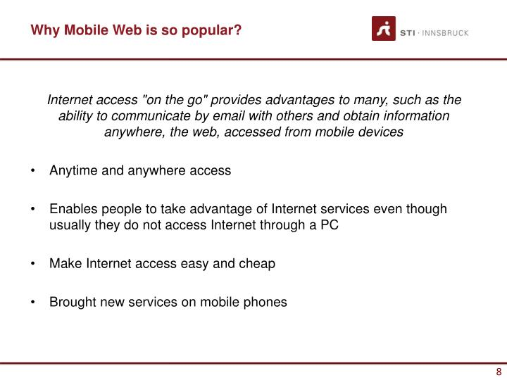 Why Mobile Web is so popular?