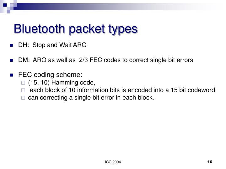 Bluetooth packet types