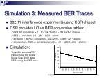 simulation 3 measured ber traces