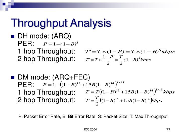 Throughput Analysis