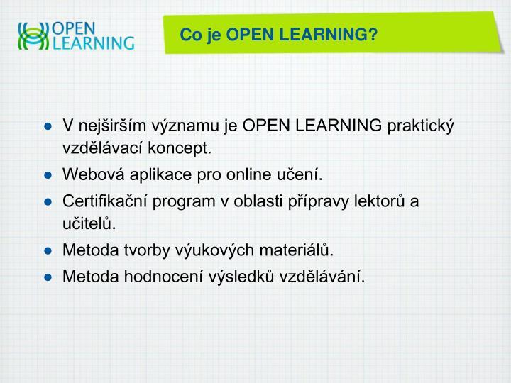 Co je OPEN LEARNING?